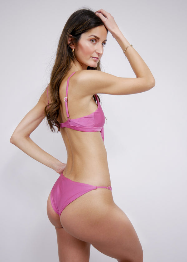 Marbella Bikini Bottom - Rouge - Laara Swim Sustainable Swimwear