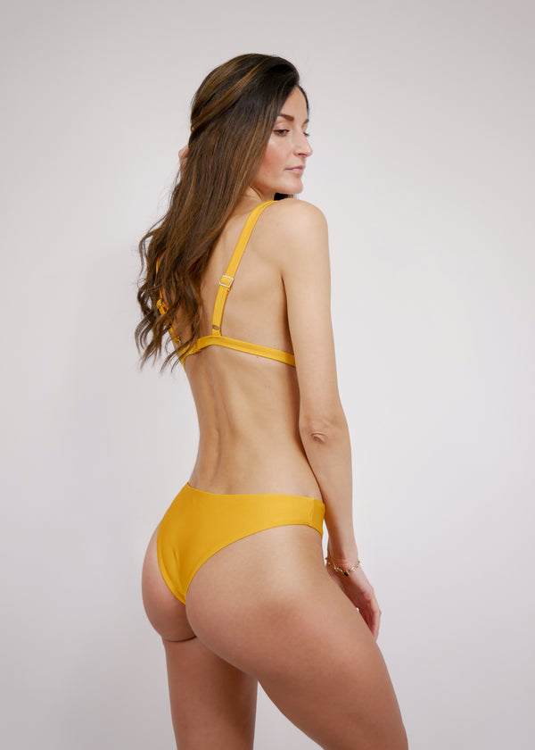 Brazilian High Cut Cheeky Bikini Bottom - Sunrise - Laara Swim Sustainable Swimwear