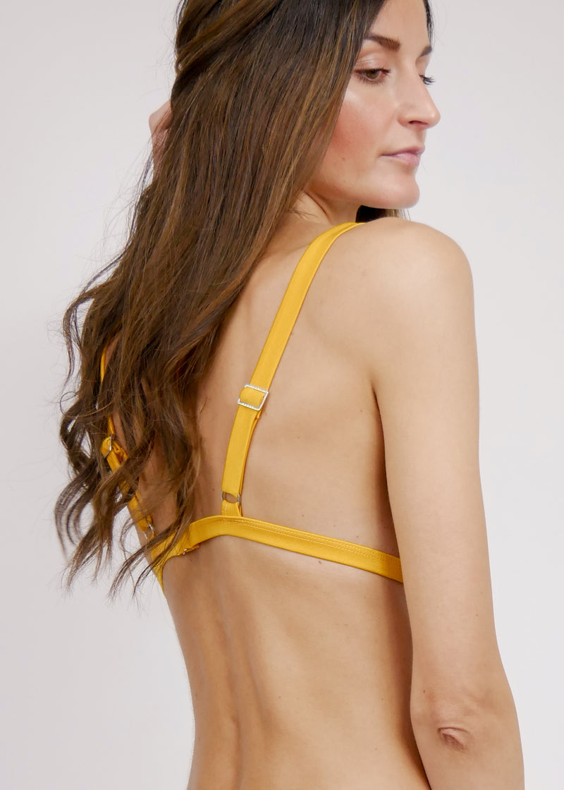 Jamaica Halter Bikini Top - Sunrise - Laara Swim Sustainable Swimwear