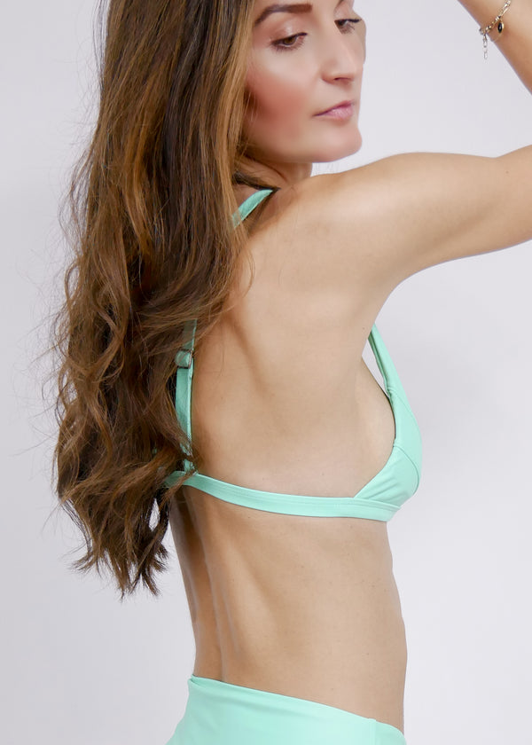 Jamaica Halter Bikini Top - Turquoise - Laara Swim Sustainable Swimwear