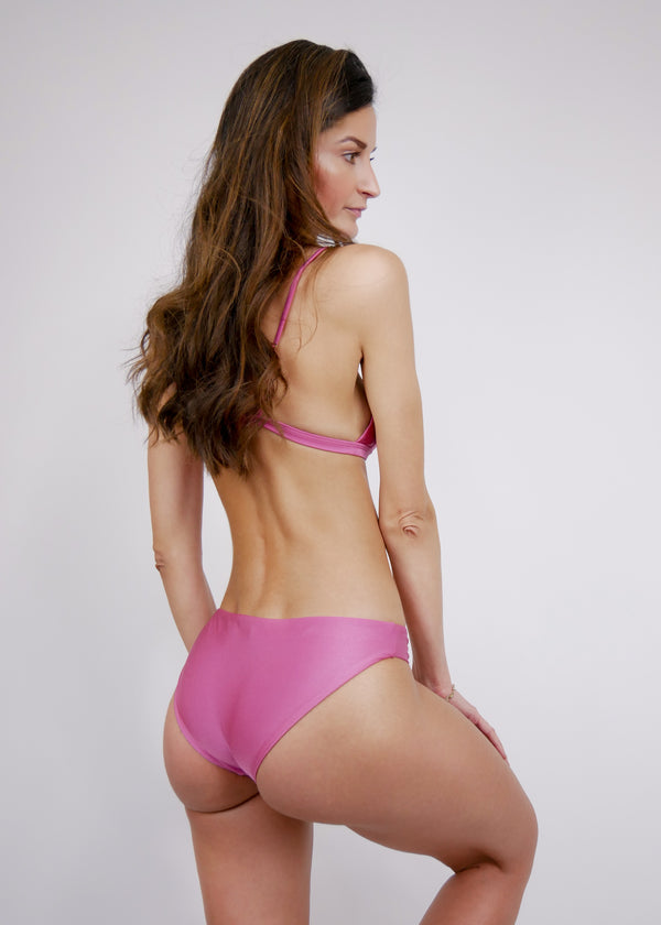 L'Aquila Look Good Classic Bottom - Rouge - Laara Swim Sustainable Swimwear