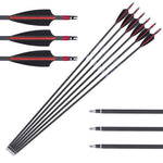6pcs SPorting Carbon Archery 31in Arrows SP340 ANTSIR Arrow For Bow Hunting CN
