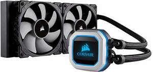 CORSAIR HYDRO Series H100i PRO RGB AIO Liquid CPU Cooler, 240mm, Dual ML120 PWM Fans, Intel 115x/2066, AMD AM4(EN)