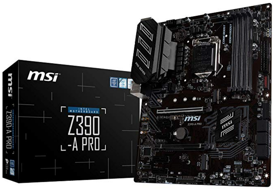 MSI Z390-A PRO LGA1151 (Intel 8th and 9th Gen) M.2 USB 3.1 Gen 2 DDR4 HDMI DP CFX Dual Gigabit LAN ATX Z390 Gaming Motherboard(EN)