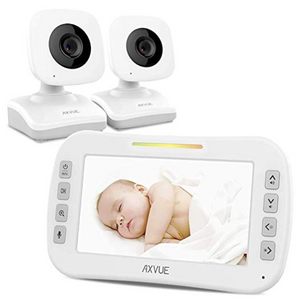 "Video Baby Monitor with Two Cameras and 4.3"" Screen by Axvue, Model E612, Multifunctions(EN)"