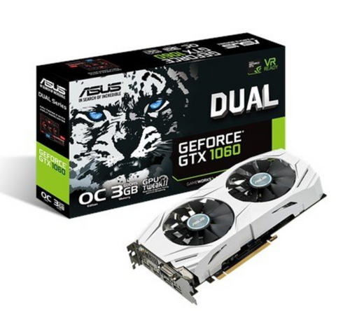 ASUS Grafikkarte GeForce GTX 1060, 6 GB, ROG-Strix-OC-Edition, VR-Ready, HDMI 2.0, DP 1.4(DE)