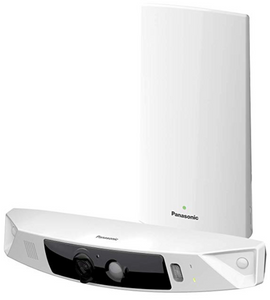 PANASONIC HomeHawk Home Monitoring HD Front Door Camera, Simple Wire-free Setup, No Fees or Cloud Service Needed, Mobile App Alerts, Color Night Vision, 2- Way Talk, Works with Alexa (KX-HN7001W)(EN)