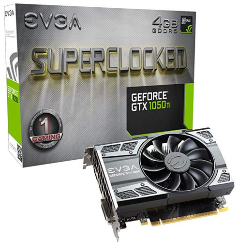 EVGA GeForce GTX 1050 Ti SC Gaming, 4GB GDDR5, DX12 OSD Support (PXOC) Graphics Card 04G-P4-6253-KR(EN)
