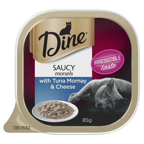 DINE CLASSIC TUNA MORNAY CHEESE 14X85G - Humble Pet Products