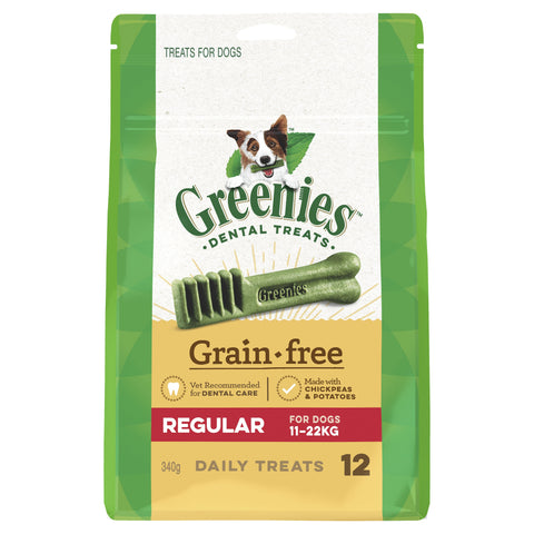 Greenies Grain Free Treat Pak Regular 340g - Humble Pet Products