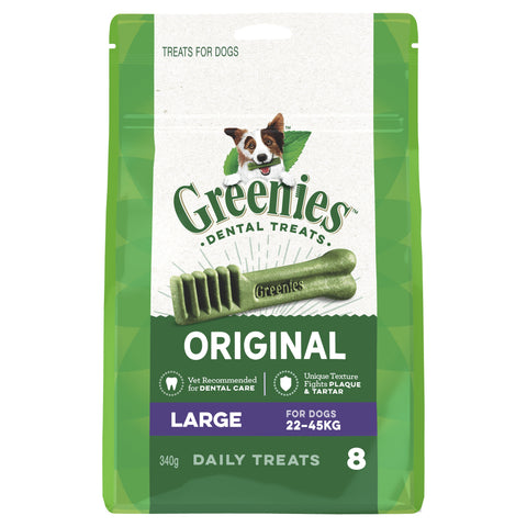 GREENIES TREAT PAK LARGE 8 PIECES 340G - Humble Pet Products