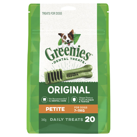 GREENIES TREAT PAK PETITE 20 PIECES 340G - Humble Pet Products