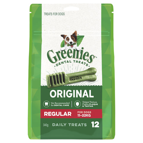 GREENIES TREAT PAK REGULAR 12 PIECES 340G - Humble Pet Products