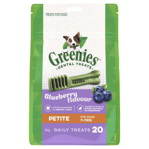 GREENIES BLUEBERRY PETITE 340G