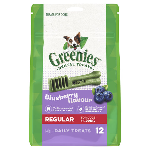 GREENIES BLUEBERRY REGULAR 340G