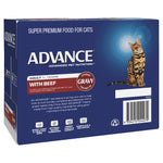 ADVANCE 1+ Years Adult Cat With Beef In Gravy (12x85g) - Humble Pet Products