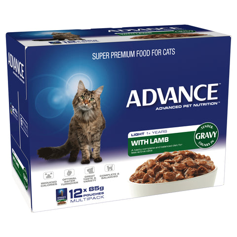 ADVANCE 1+ Years Light Cat With Lamb In Gravy (12x85g) - Humble Pet Products