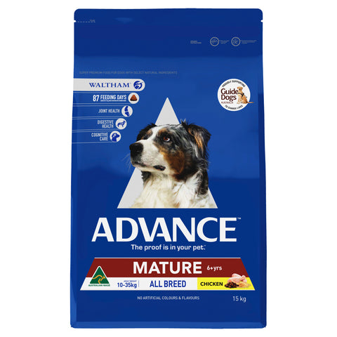 ADVANCE Adult Dog All Breed Mature Chicken 15kg - Humble Pet Products