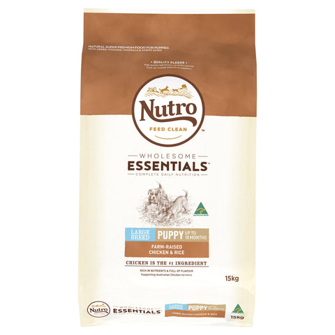 Nutro Wholesome Essentials Puppy Large Breed Chicken & Rice 15kg