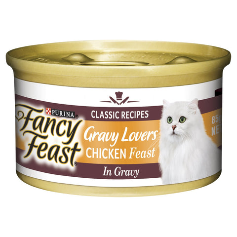 FANCY FEAST GRAVY LOVERS CHICKEN FEAST 24X85G - Humble Pet Products