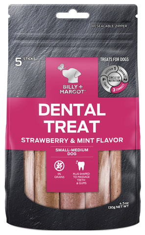BILLY & MARGOT DENTAL STRAWBERRY SMALL/MED 5pc