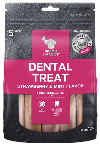 BILLY & MARGOT DENTAL STRAWBERRY LGE/XLGE 5pc
