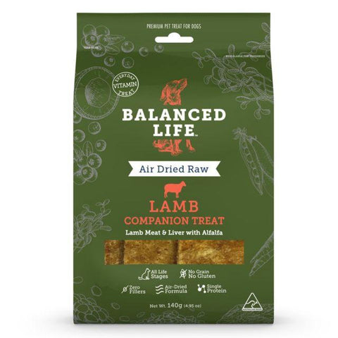 Balanced Life Companion Treats Lamb Dog 140g
