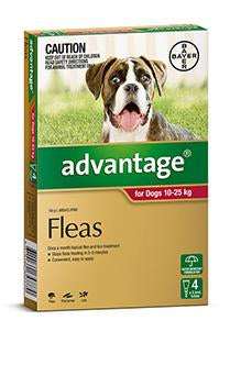 ADVANTAGE DOG 10-25KG LARGE RED - Humble Pet Products
