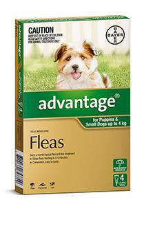 ADVANTAGE DOG 0-4KG SMALL GREEN - Humble Pet Products