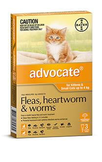 ADVOCATE CAT 0-4KG SMALL ORANGE - Humble Pet Products