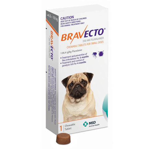BRAVECTO SMALL DOG ORANGE - Humble Pet Products
