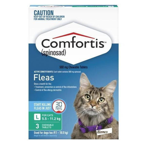 COMFORTIS CAT 5.5 - 11.2KG GREEN 3pack - Humble Pet Products