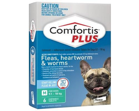 COMFORTIS PLUS GREEN MEDIUM - Humble Pet Products