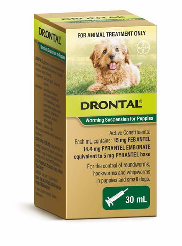 DRONTAL WORMING SUSPENSION BAYER 30ML