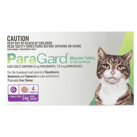 PARAGARD ALLWORMER CAT 0-5KG 4pack PURPLE