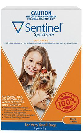 SENTINEL VERY SMALL DOG UP TO 4KG ORANGE