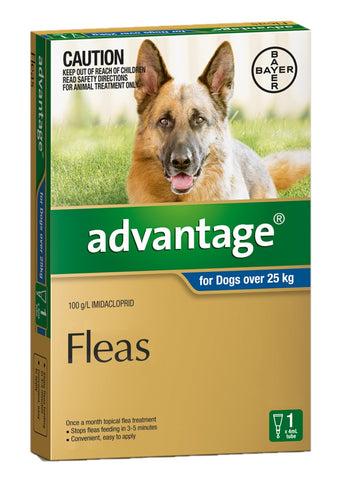ADVANTAGE DOG 25KG PLUS XLARGE BLUE - Humble Pet Products