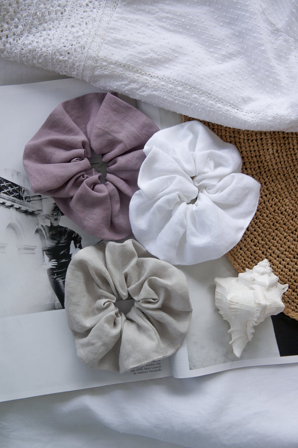 French Linen Scrunchies