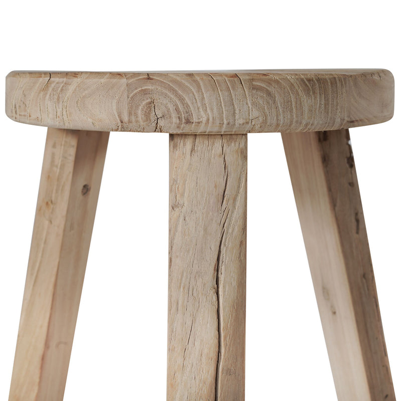 Vintage Elm Stool - Natural