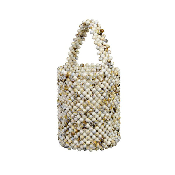 Mini Bead Bag - Cream