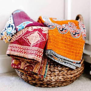 Kantha Hand Stitched Quilts