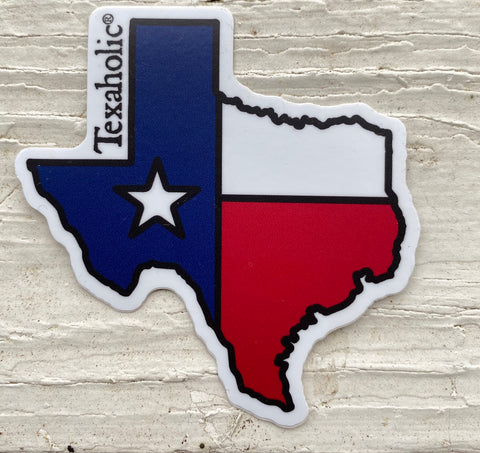 Texaholic®️ Flag Sticker