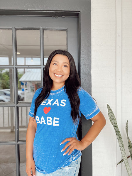 Texas Babe Acid Wash Tee