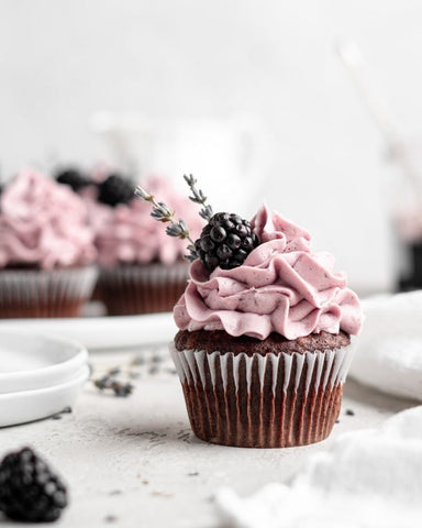 Simple Yet Sophisticated Classy Cupcake Ideas for Adults - Blackberry Lavender Cupcakes