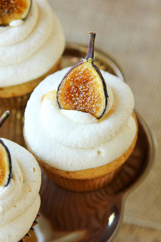 Simple Yet Sophisticated Classy Cupcake Ideas for Adults - Honey Marscapone Fig Cupcake