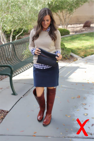 Cousin Billie | How to Wear Boots with Skirts