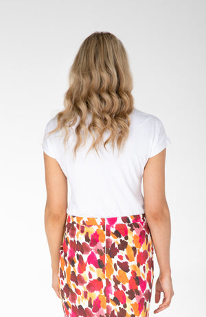Pleat Sleeve Top | White | Fun and Feminine Women's Fashion Online Australia