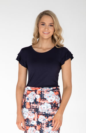 Ally Frilled-Sleeve Top