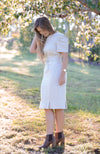 Jaynie Pleated Linen Dress - Oatmeal