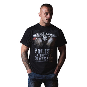 CREST FIGHTING DIVISION POLEN T-SHIRT SCHWARZ